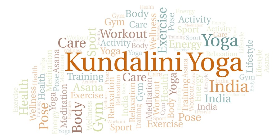 Kundalini Yoga Word Cloud. Wordcloud Made With Text Only.